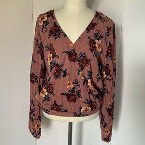 American Eagle   floral print blouse